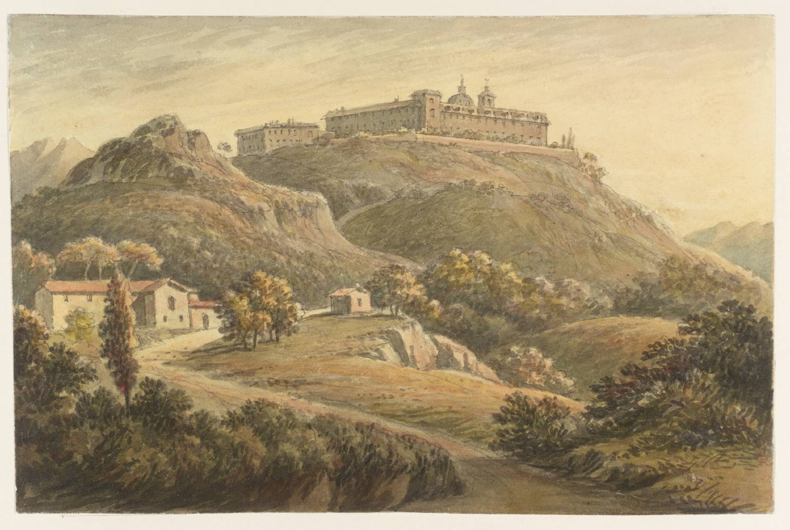 MonteCassino-Painting-John-Warwick-Smith-1749–1831